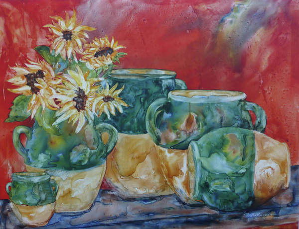 Painting - Confits And Sunflowers by Paula Robertson