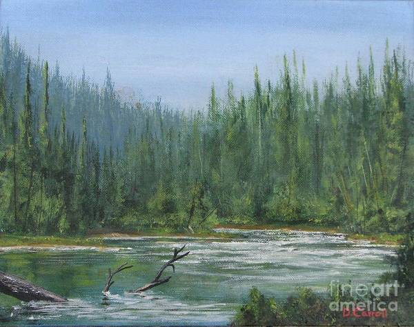 Wall Art - Painting - Confluence At First Light by Dana Carroll