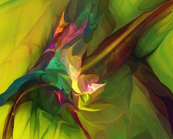 Abstract Expressionism Digital Art - Confluence by David Lane
