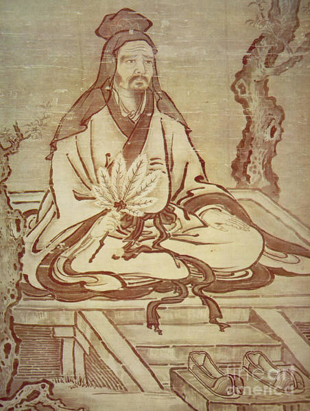 Weeds Drawing - Confucius, Chinese Thinker And Social Philosopher  by Kano Tanyu
