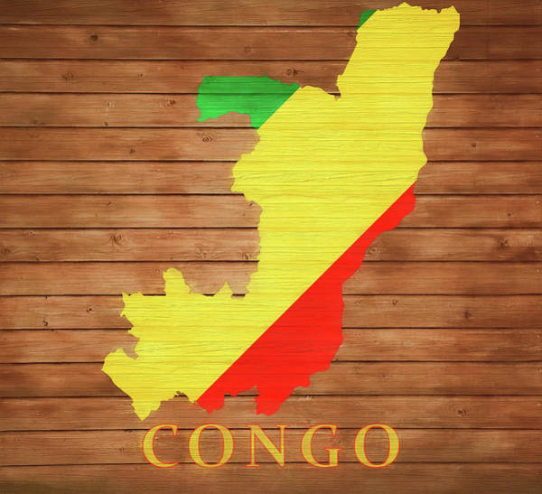 Traveler Mixed Media - Congo Rustic Map On Wood by Dan Sproul
