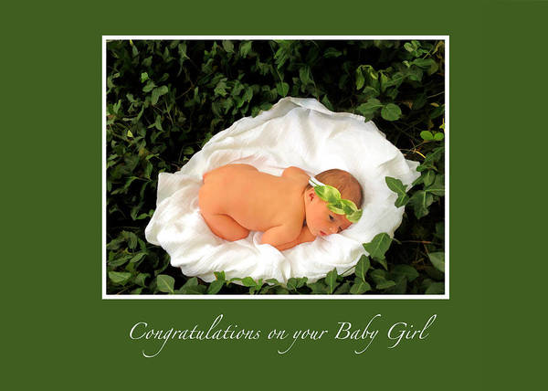 Photograph - Congratulations On Your Baby Girl Greeting Card by Ginger Wakem