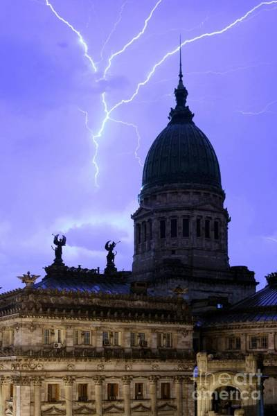 Photograph - Congreso Lightning 3 by Balanced Art