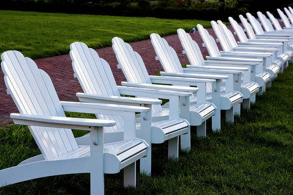 Photograph - Congress Hall Chairs by Tom Singleton