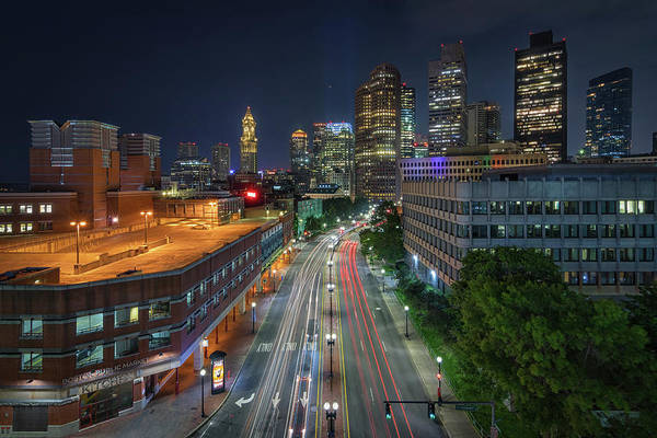 Photograph - Congress Street Leading Into Boston by Kristen Wilkinson