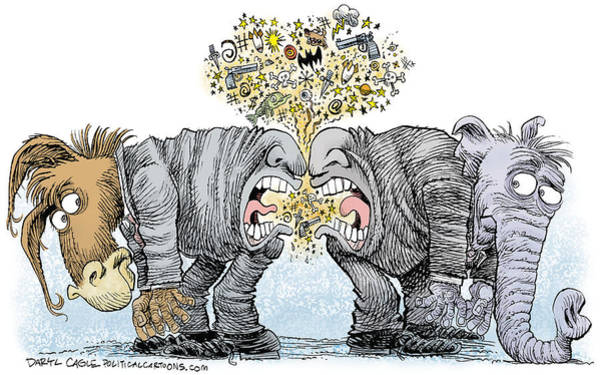 Drawing - Congress Talking Out Of Their Butts by Daryl Cagle