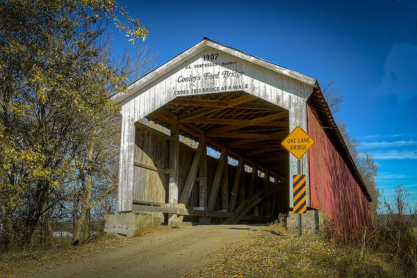 Photograph - Conley's Ford Covered Bridge by Jack R Perry