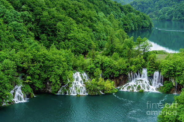 Photograph - Connected By Waterfalls - Plitvice Lakes National Park, Croatia by Global Light Photography - Nicole Leffer