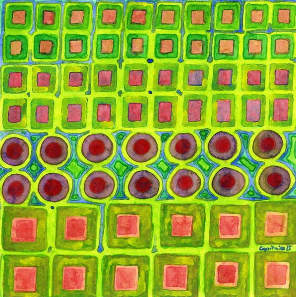 Similar Painting - Connected Filled Squares Fields by Heidi Capitaine