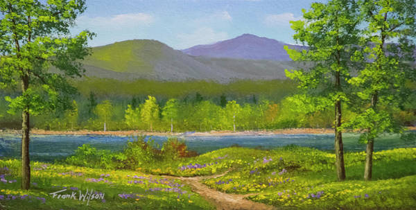 Wall Art - Painting - Connecticut River Spring by Frank Wilson