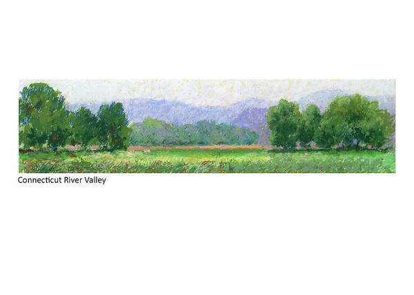 Pastel - Connecticut River Valley by Betsy Derrick