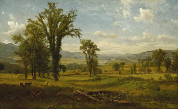 Wall Art - Painting - Connecticut River Valley, Claremont, New Hampshire by Albert Bierstadt