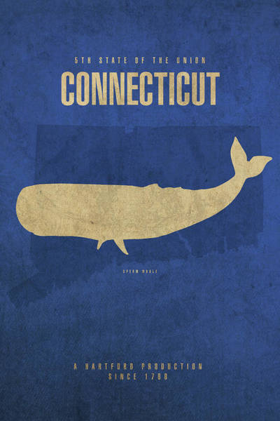 Wall Art - Mixed Media - Connecticut State Facts Minimalist Movie Poster Art by Design Turnpike