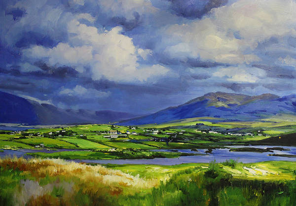 Galway Painting - Connemara Fields by Conor McGuire