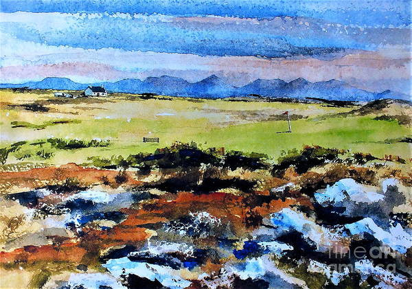 Painting - F  801  Connemara Golf, Ballyconneely, Galway by Val Byrne