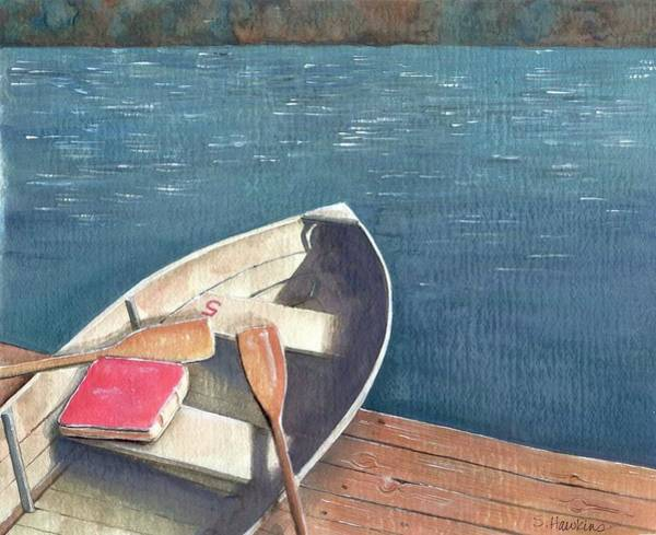 Wall Art - Painting - Connetquot Park Row Boat by Sheryl Heatherly Hawkins