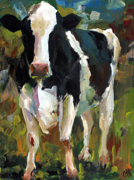 Wall Art - Painting - Connie The Cow by Cari Humphry