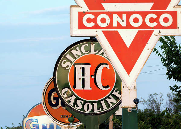 Photograph - Conoco Sign 081117 by Rospotte Photography