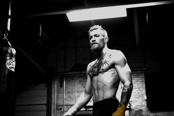 Boxing Mixed Media - Conor Mcgregor Unyielding Training by Brian Reaves