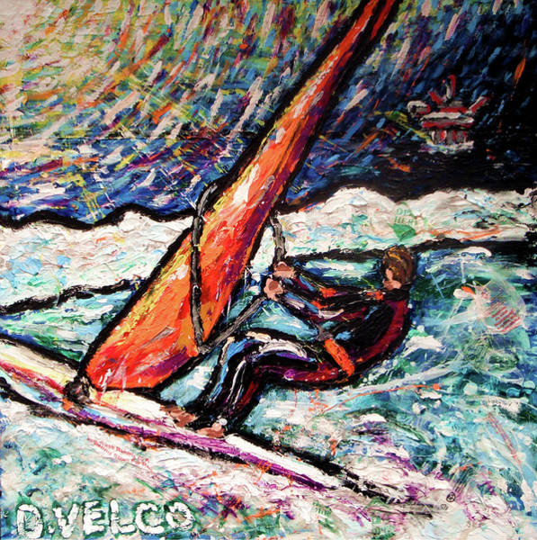 Recycling Painting - Conscience Surfer by Dennis Velco