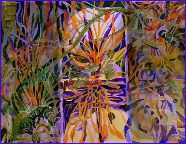 Wall Art - Painting - Conservatory Glass by Mindy Newman