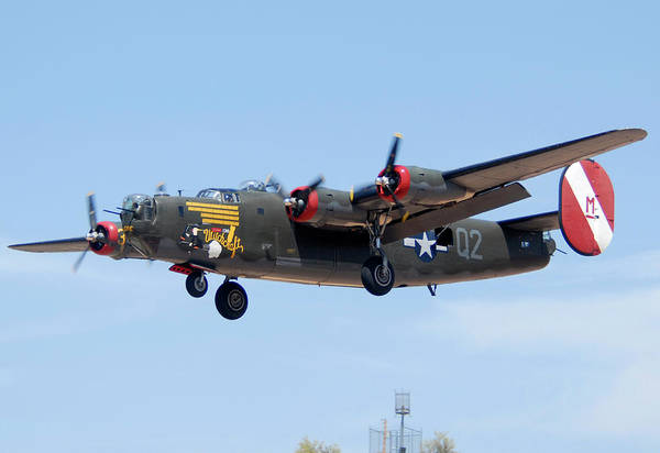 Bomber Photograph - Consolidated B-24j Liberator N224j Witchcraft Deer Valley Airport Arizona April 20 2011  by Brian Lockett