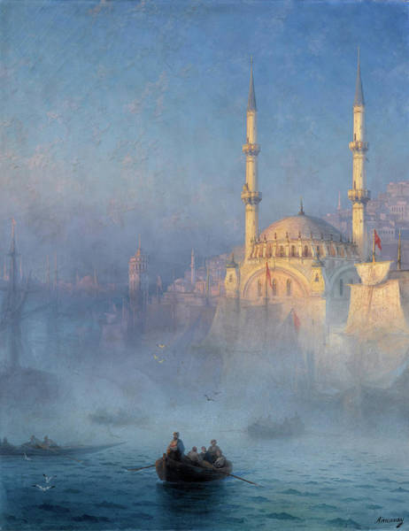 Wall Art - Painting - Constantinople, Mosque Of Top-kahne by Ivan Konstantinovich Aivazovsky