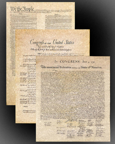 Photograph - Constitution Of The United States,  Bill Of Rights And The Decla by Jack R Perry