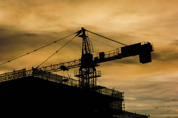 Photograph - Construction Crane At Dusk by William Dickman