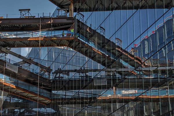 Photograph - Construction Window Reflections #2 - Washington by Stuart Litoff