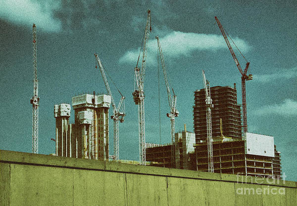 Steel Construction Wall Art - Photograph - Construction Works In Stratford by Jasna Buncic