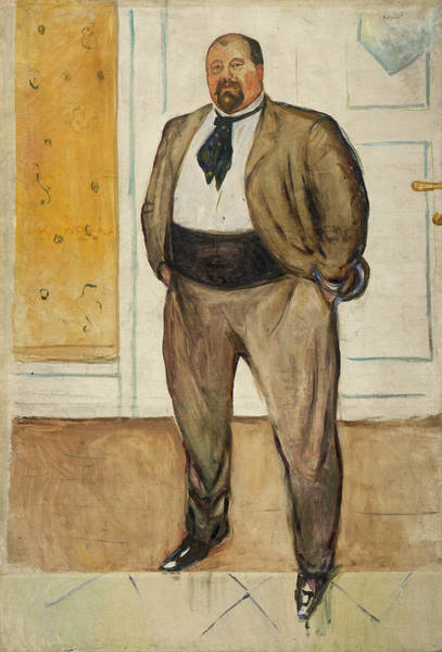 Norwegian Painting - Consul Christen Sandberg by Edvard Munch