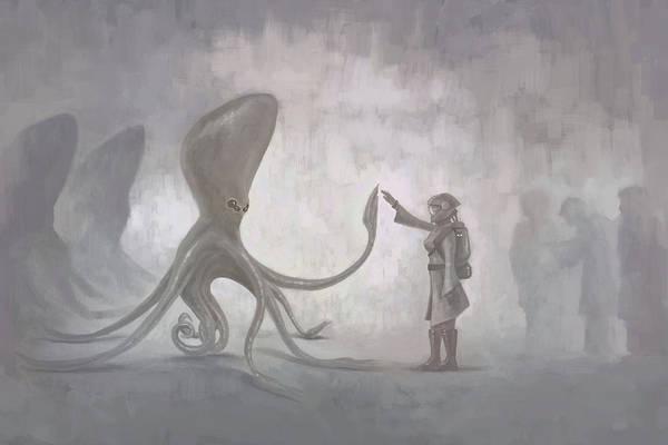 Extraterrestrial Digital Art - Contact by Mark Zelmer