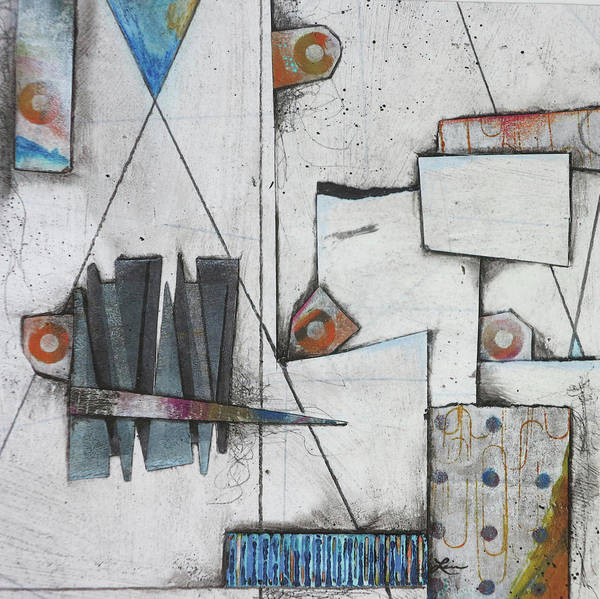 Triangle Mixed Media - Contained Happiness by Laura Lein-Svencner
