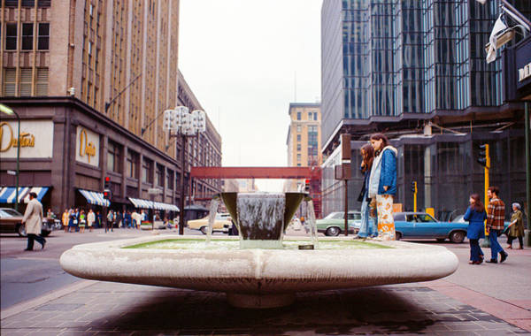 Photograph - Contemplating The Fountain At 8th And Nicollet. by Mike Evangelist