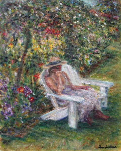 Painting - Contemplation In The Garden by Quin Sweetman
