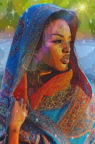 Digital Art - Contemplation  by Karen Buford