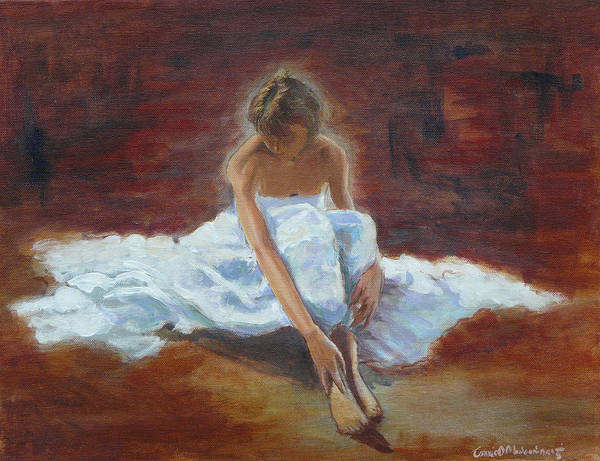 Irish Dance Painting - Contemplation by Tomas OMaoldomhnaigh