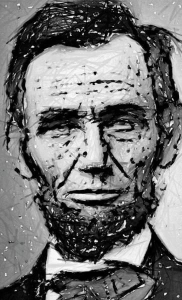 Wall Art - Digital Art - Contemplative Abe Lincoln by Daniel Hagerman