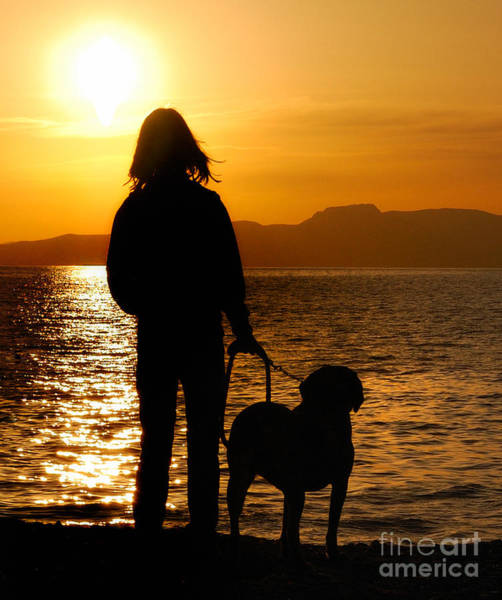 Together Forever Photograph - Contemporaneous Moment - Friends Sharing A Sunset by Steven Milner