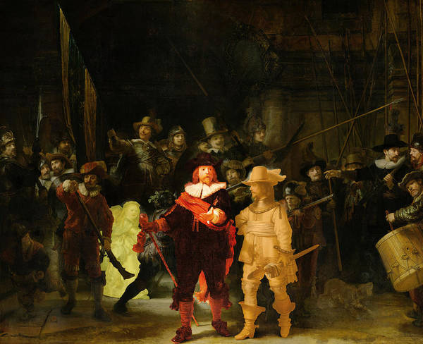 Digital Art - Contemporary 1 Rembrandt by David Bridburg