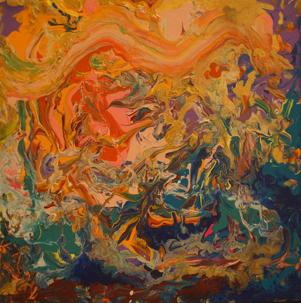 Painting - Contemporary Abstract Painting -  Liquid Dreams 3 by Adam Asar