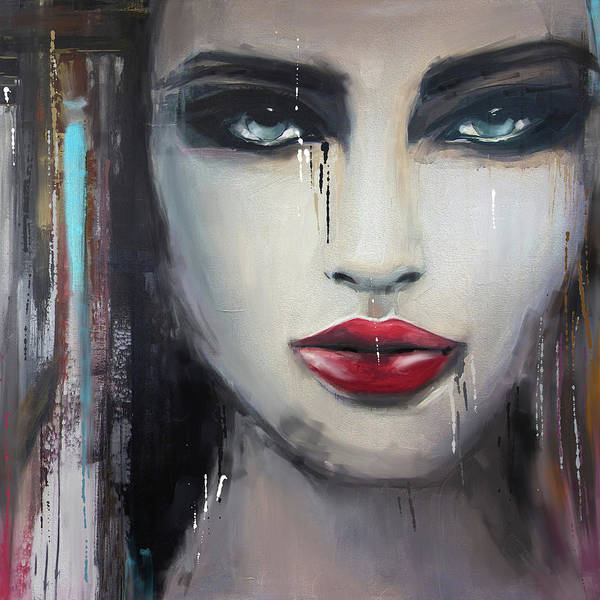 Wall Art - Painting - Contemporary Abstract Portrait Painting 181 I by Mawra Tahreem