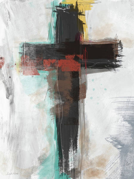 Wall Art - Mixed Media - Contemporary Cross 1- Art By Linda Woods by Linda Woods