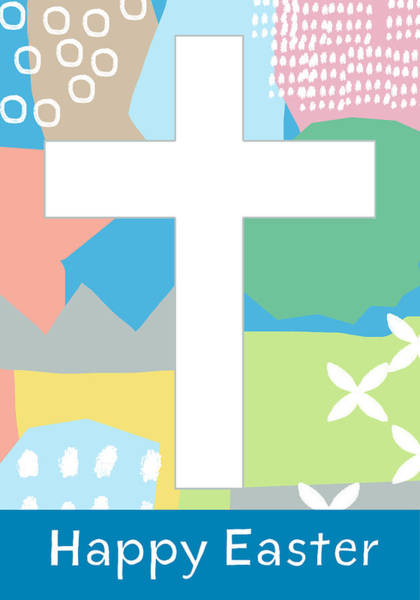 Wall Art - Mixed Media - Contemporary Easter Cross- Art By Linda Woods by Linda Woods