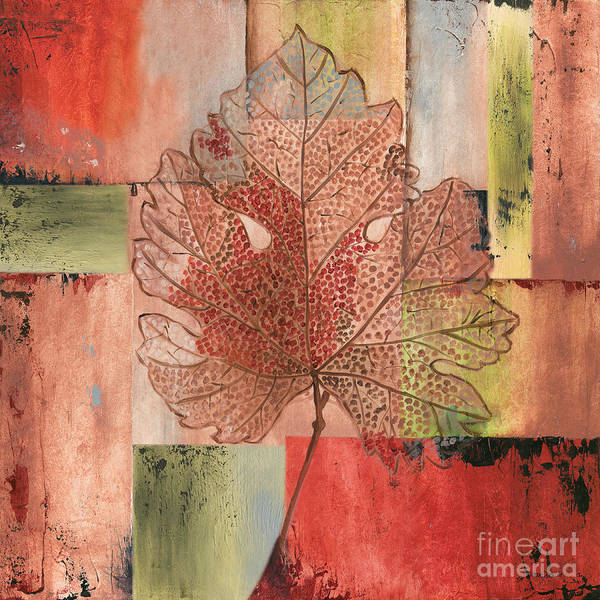 Wall Art - Painting - Contemporary Grape Leaf by Debbie DeWitt
