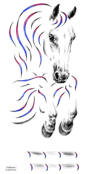 Drawing - Contemporary Jumper Horse by Kelli Swan