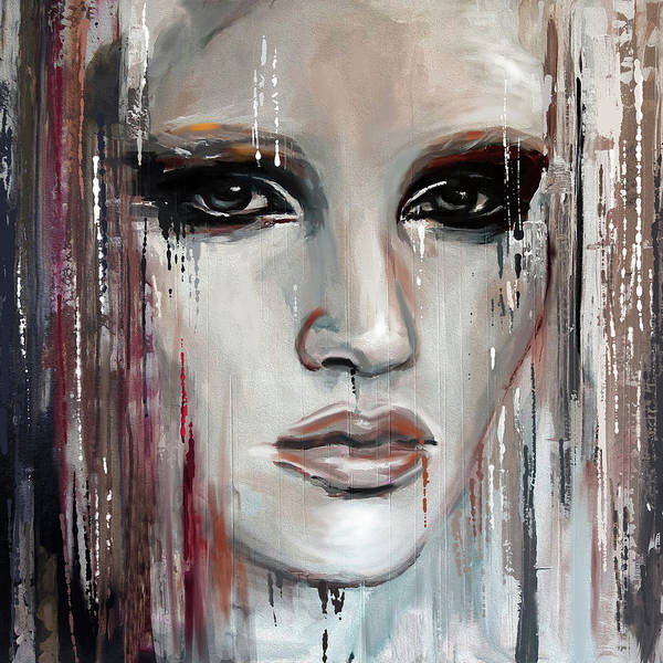 Wall Art - Painting - Contemporary Portrait Painting 179 I by Mawra Tahreem
