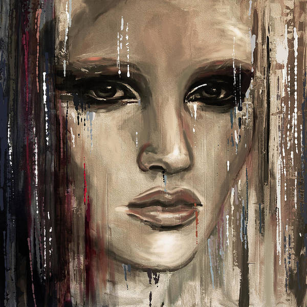 Wall Art - Painting - Contemporary Portrait Painting 179 II by Mawra Tahreem