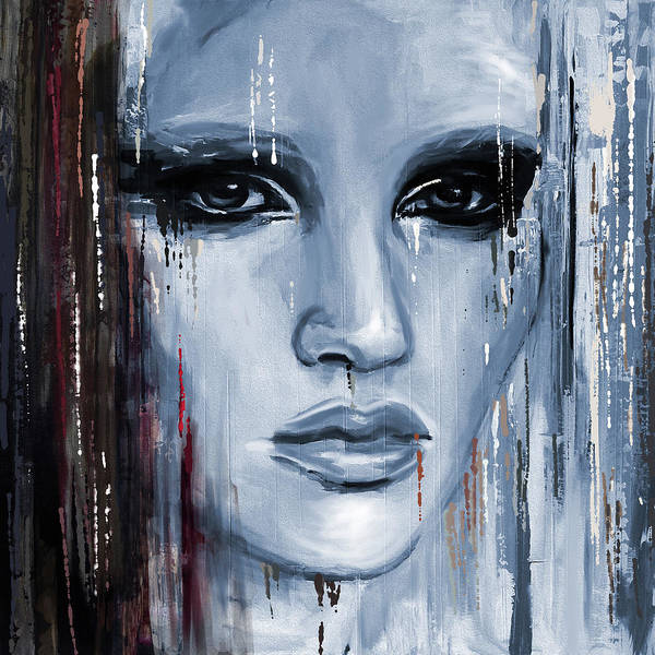 Wall Art - Painting - Contemporary Portrait Painting 179 Iv by Mawra Tahreem